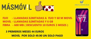 LINEA MAS MOVIL FIJO ADSL MOVIL Y REGALO