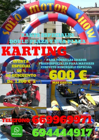 karting movil. karts, con circuito