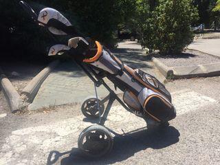 Palos y carro golf niño zurdo (9-12 años)