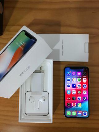Iphone x 64gb silver leer bien
