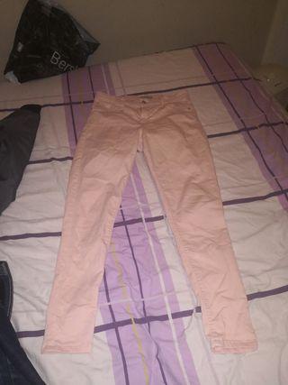 Pantalones Rosas Push Up Talla 40
