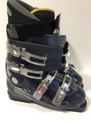 Botas de esquí Salomón con uso