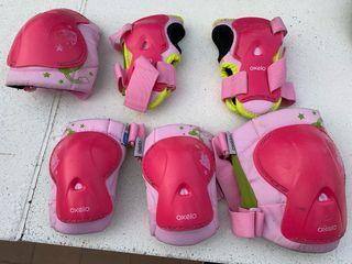 Patines, casco y protectores de niñ@