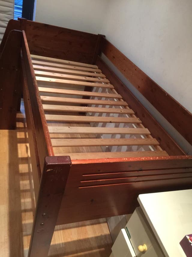 Mid Sleeper Bed Solid Wood