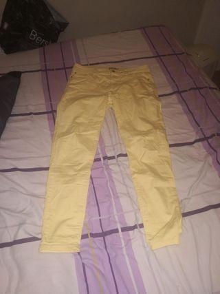 Pantalones Amarillos Talla 40