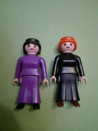 Playmobil lote 2 figuras antiguas mujer victoriana