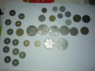 Colección de monedas en pesetas