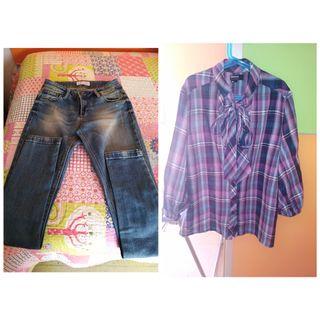 pantalón y blusa