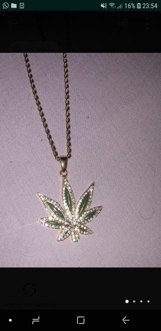 Cadena Marihuana Diamante