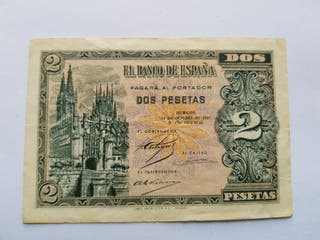 2 pesetas 1937 MBC+ Burgos