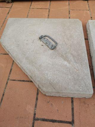 Peso piedra para sombrilla