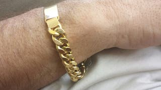 14701d09238b Pulsera de oro hombre de segunda mano en WALLAPOP