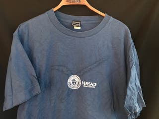 Camiseta manga corta azul VERSACE talla XL