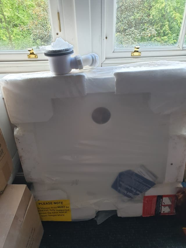 shower base and waste