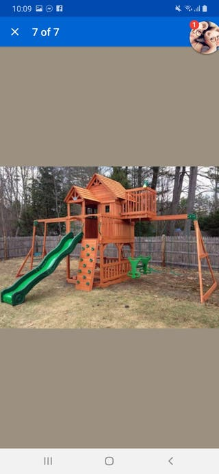 large wooden playhouse