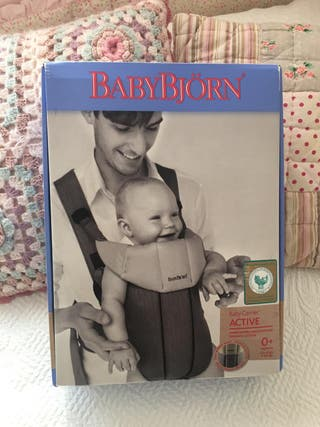 Mochila porta bebé BabyBjörn de Algodón Orgánico