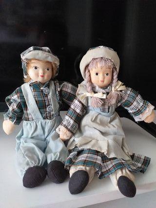 Muñecos porcelana vintage