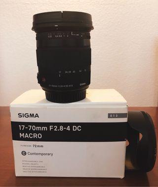Objetivo Sigma 17-70mm F 2.8-4 DC MACRO (CANON)