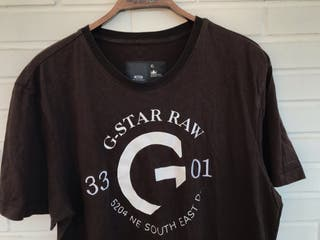 Camiseta manga corta G STAR talla XL marrón