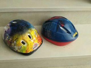 dos cascos para bici niño