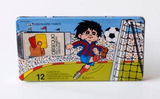 Caja metálica 12 lápices de colores, Sport Billy