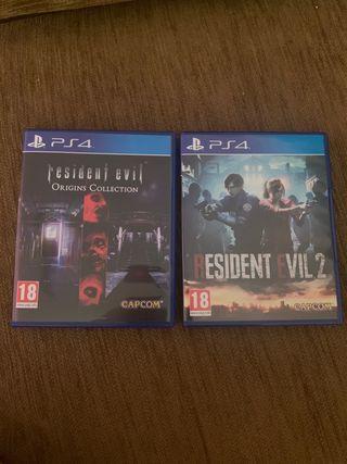 Resident Evil Zero, 1 y 2 Remake Ps4