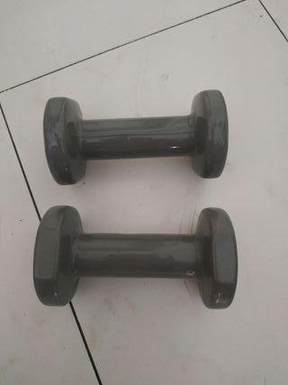 2 pesas de 2 cada una