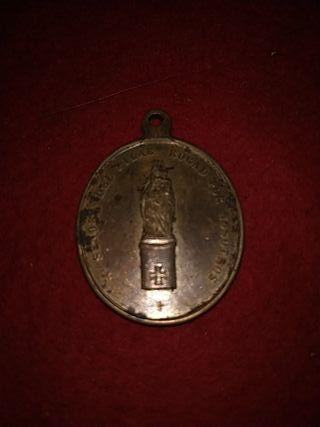 medalla siglo xviii virgen de Pilar y San jose