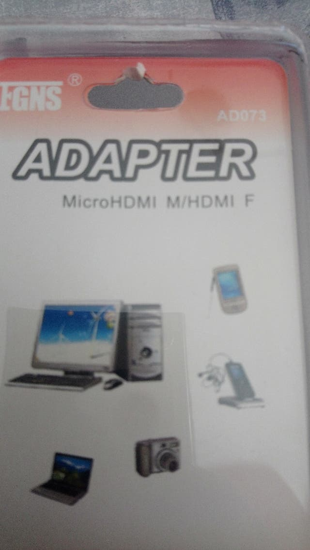 adaptador micro HDMI a HDMI
