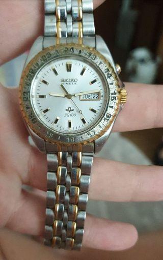 Reloj Seiko kinetic Sq100