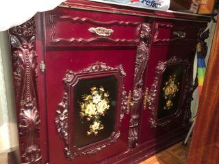 Mueble de 180 años vintage con espejo a juego