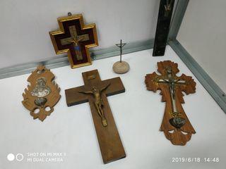 Antiguos crucifijos gran lote de coleccion