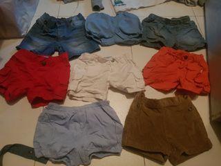 lote pantalones cortos niño