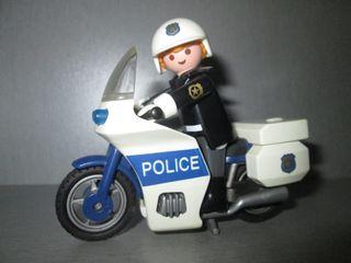 Playmobil. Moto Policía. Ref. 3986.