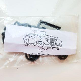 Cortador patchwork coche antiguo