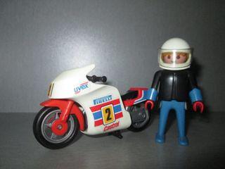 Playmobil. Moto de Carreras Ref. 3303 y Figura.