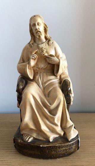 Figura antigua Cristo sentado