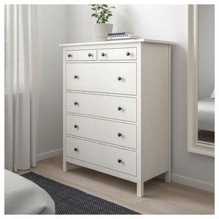 Ikea hemnes cómoda 6 cajones tinte blanco