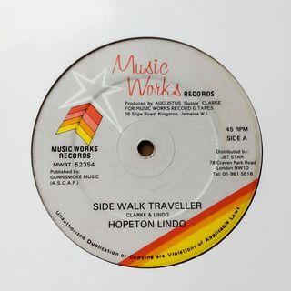 """Hopeton Lindo - Side Walk Traveller - 12"""" Reggae"""