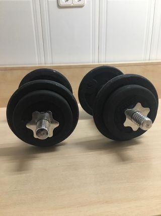 Mancuernas 20 kg ( 10kg cada mancuerna)