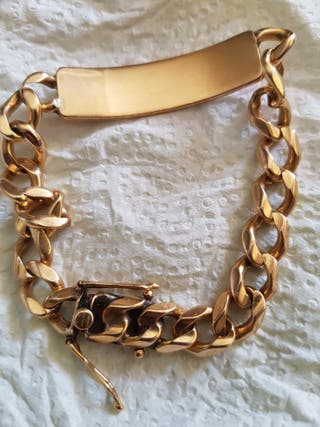 b7dc679450d7 Pulsera de oro macizo de segunda mano en WALLAPOP