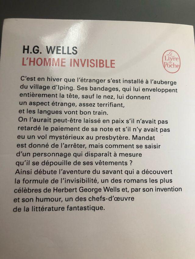 L'homme invisible de H.G Wells