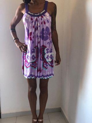 Vestido de verano made in Italy. Talla S.