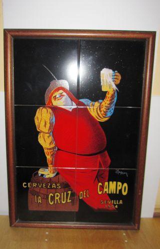 Cuadro azulejos Cruzcampo Sevilla 1904