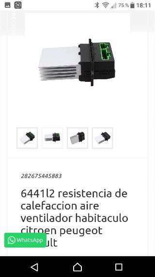 resistencia aire acondicionado