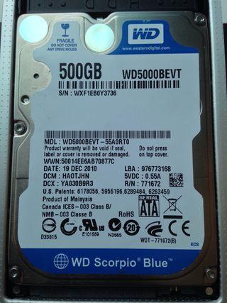 Disco duro 500gb 2,5
