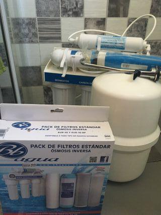 Filtro de Agua, osmosis inversa.