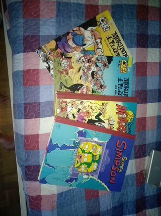 Comics Mortadelo y Filemón y Los Simpsons