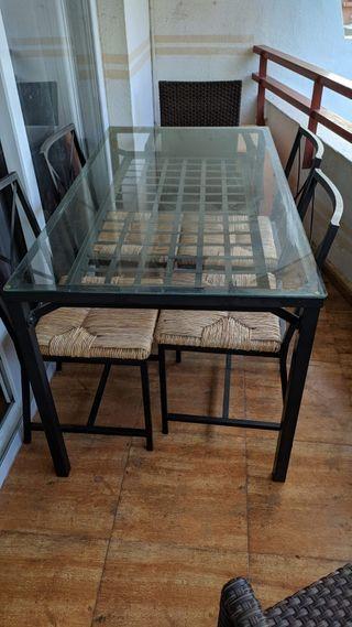 Mesa jardín+4 sillas