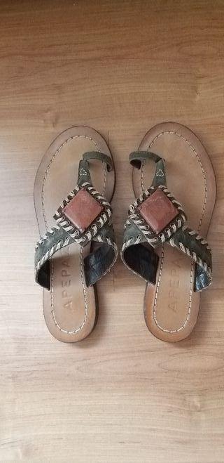 sandalias de piel Apepazza